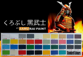 Samurai Spray stamdard colours